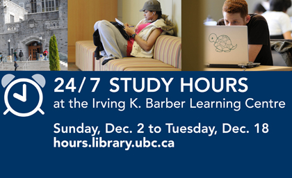 Students studying at the Barber Centre