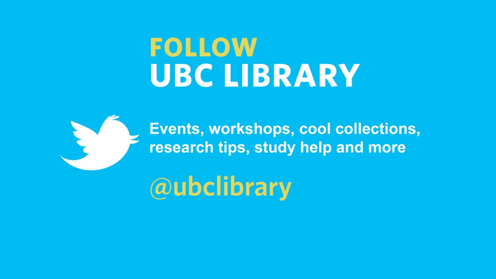 @UBC Library Twitter