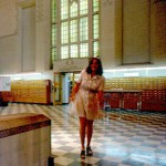 Student in Main Library, 1973