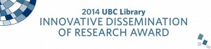 Innovative Dissemination of Research Award 2014