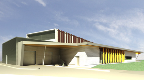 Rendering of Library PARC