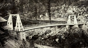 Historic suspension bridge