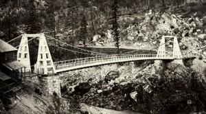 Historic suspension bridge