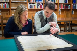 staff viewing the document