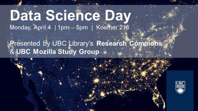 Data Science Day, April 4, 2016