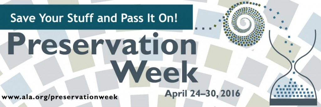 Preservation Week banner, American Library Association
