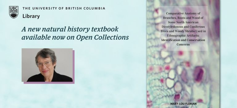 Mary-Lou Florian, one of Canada's most esteemed conservation scientists makes her most recent book available through UBC's Open Collections.