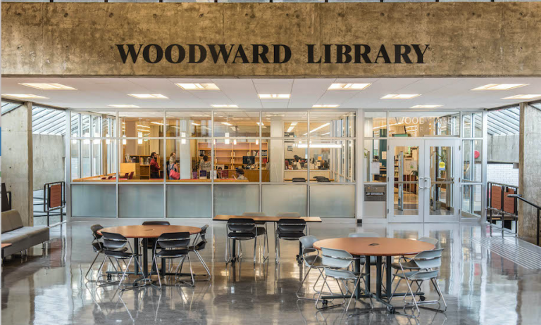 Woodward Library entrance